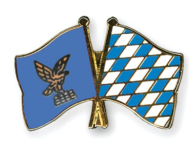 Crossed Flag Pins Friuli-Venezia-Giulia-Bavaria