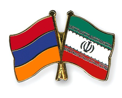Crossed Flag Pins Armenia-Iran
