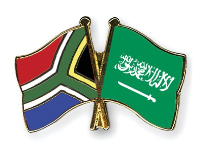 Special Offer Crossed Flag Pins South-Africa-Saudi-Arabia