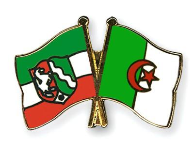 Crossed Flag Pins North-Rhine-Westphalia-Algeria