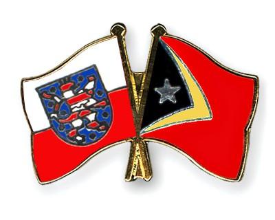 Crossed Flag Pins Thuringia-Timor-Leste