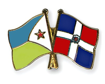 Crossed Flag Pins Djibouti-Dominican-Republic