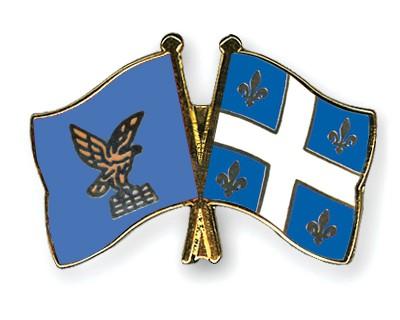 Crossed Flag Pins Friuli-Venezia-Giulia-Quebec