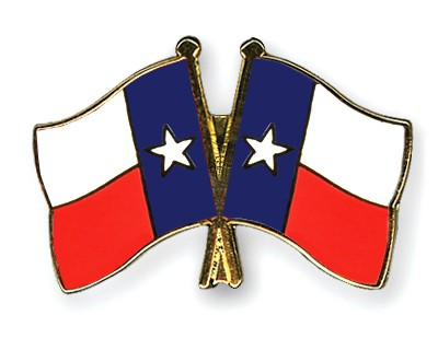 Crossed Flag Pins Texas-Texas