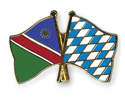 Crossed Flag Pins Namibia-Bavaria