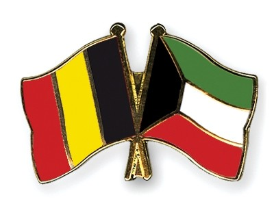 Special Offer Crossed Flag Pins Belgium-Kuwait