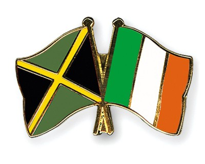 Special Offer Crossed Flag Pins Jamaica-Ireland