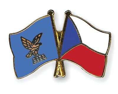 Crossed Flag Pins Friuli-Venezia-Giulia-Czech-Republic