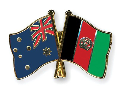 Crossed Flag Pins Australia-Afghanistan