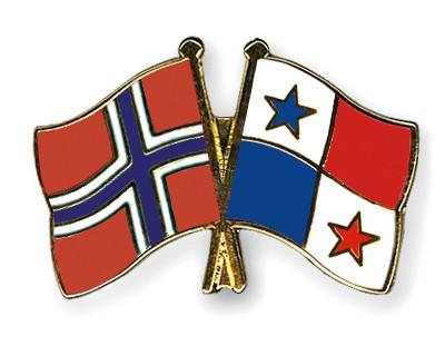 Crossed Flag Pins Norway-Panama