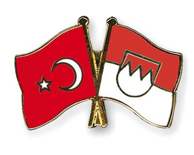 Crossed Flag Pins Turkey-Franconia