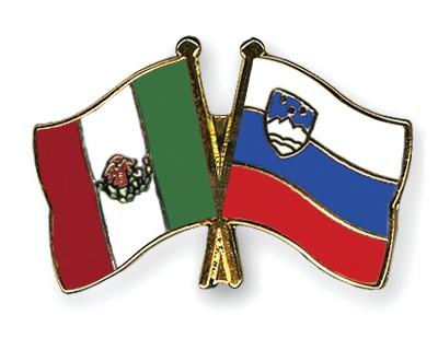 Crossed Flag Pins Mexico-Slovenia