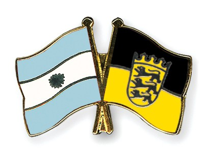 Crossed Flag Pins Argentina-Baden-Wuerttemberg