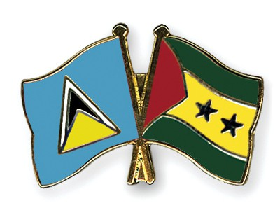 Crossed Flag Pins Saint-Lucia-Sao-Tome-and-Principe