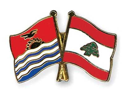 Crossed Flag Pins Kiribati-Lebanon