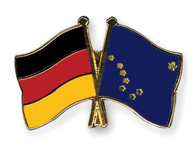 Crossed Flag Pins Germany-Alaska