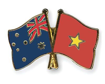 Special Offer Crossed Flag Pins Australia-Vietnam