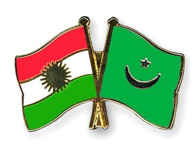 Crossed Flag Pins Kurdistan-Mauritania