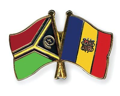 Crossed Flag Pins Vanuatu-Andorra
