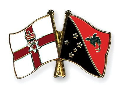 Crossed Flag Pins Northern-Ireland-Papua-New-Guinea