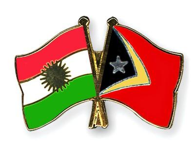Crossed Flag Pins Kurdistan-Timor-Leste