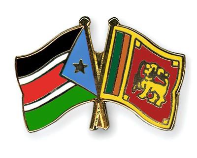 Crossed Flag Pins South-Sudan-Sri-Lanka
