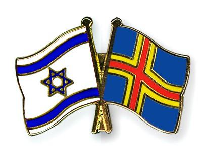 Crossed Flag Pins Israel-Aland