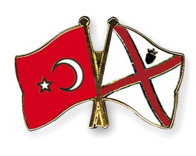 Crossed Flag Pins Turkey-Jersey