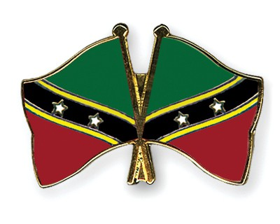 Crossed Flag Pins Saint-Kitts-and-Nevis-Saint-Kitts-and-Nevis