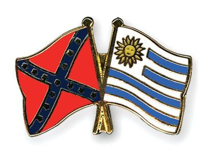 Crossed Flag Pins Confederate-battle-Uruguay