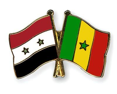 Crossed Flag Pins Syria-Senegal
