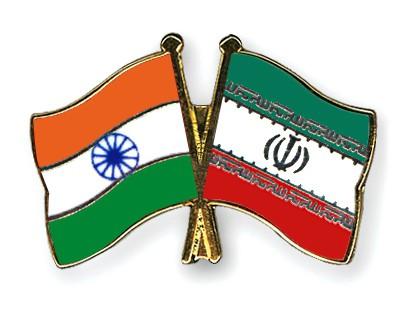 Crossed Flag Pins India-Iran