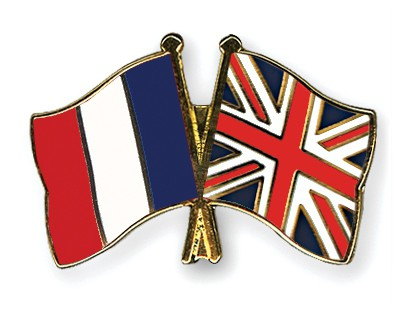 Crossed Flag Pins France-Great-Britain