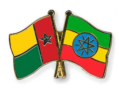 Crossed Flag Pins Guinea-Bissau-Ethiopia