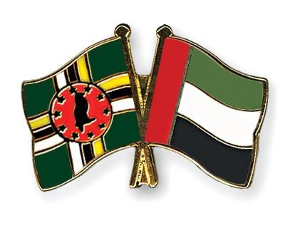 Crossed Flag Pins Dominica-United-Arab-Emirates