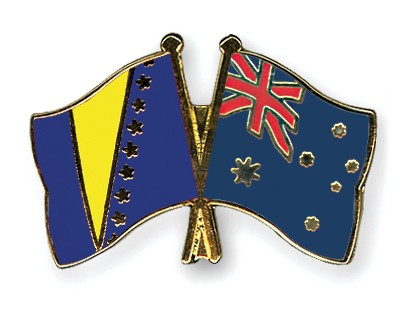 Crossed Flag Pins Bosnia-and-Herzegovina-Australia
