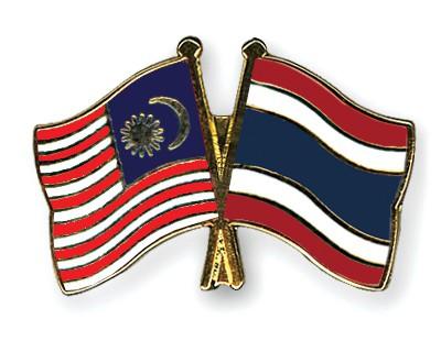 Crossed Flag Pins Malaysia-Thailand
