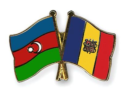 Crossed Flag Pins Azerbaijan-Andorra