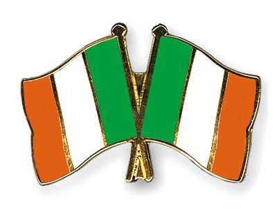 Crossed Flag Pins Ireland-Ireland