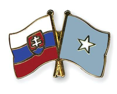 Crossed Flag Pins Slovakia-Somalia