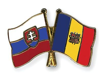 Crossed Flag Pins Slovakia-Andorra