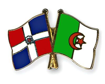 Crossed Flag Pins Dominican-Republic-Algeria