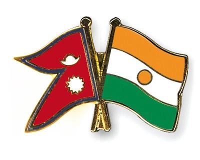 Crossed Flag Pins Nepal-Niger