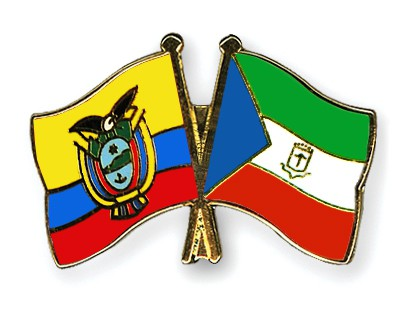 Crossed Flag Pins Ecuador-Equatorial-Guinea