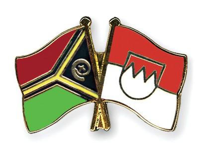 Crossed Flag Pins Vanuatu-Franconia