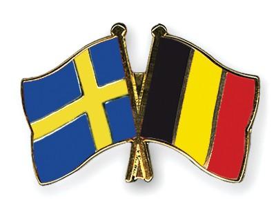 Special Offer Crossed Flag Pins Sweden-Belgium