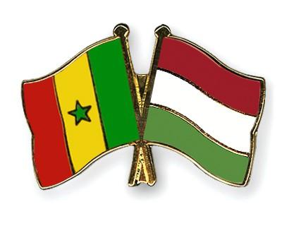 Crossed Flag Pins Senegal-Hungary