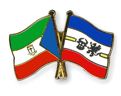 Crossed Flag Pins Equatorial-Guinea-Mecklenburg-Western-Pomerania