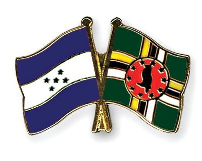 Crossed Flag Pins Honduras-Dominica
