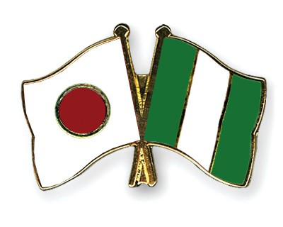 Crossed Flag Pins Japan-Nigeria